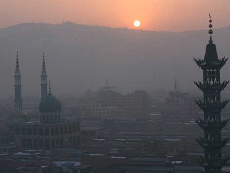 China Moscheen Flagge
