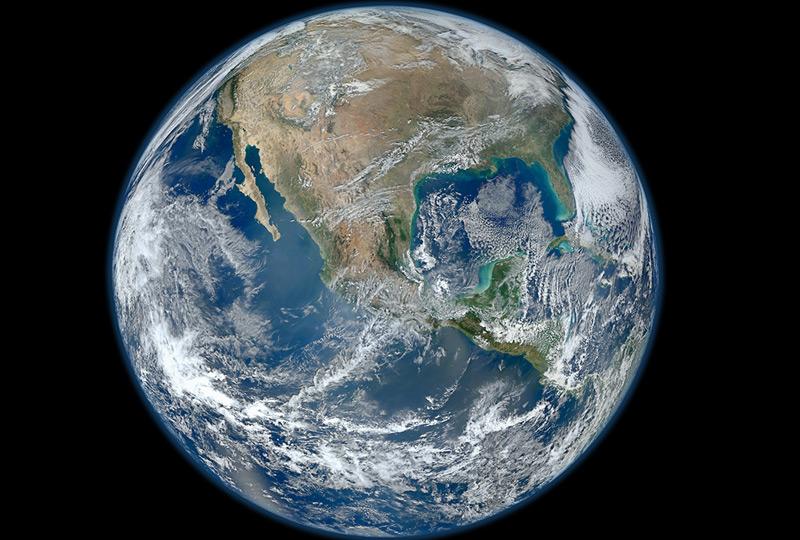 In etwa so hat Gagarin die Erde gesehen