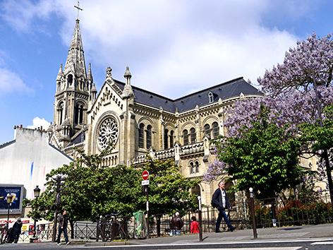 Eglise Notre-Dame-de-la-Croix de Menilmontant in Paris