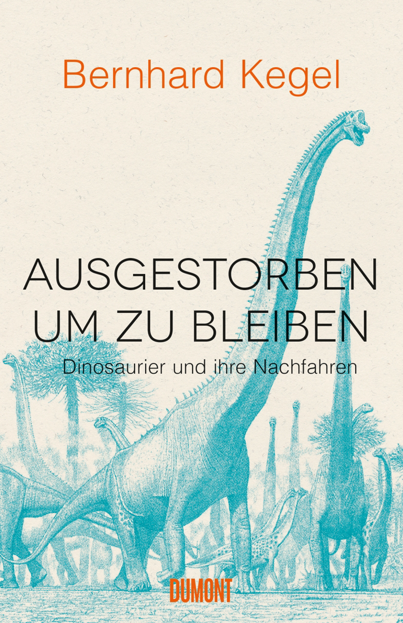 Buch-Cover mit Dinosaurier