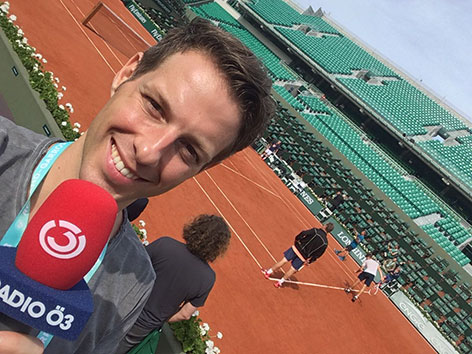 Ö3-Reporter Daniel Teissl bei den French Open in Paris