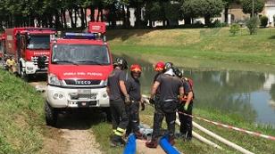 Feuerwehrübung in Norditalien mit Salzburger Beteiligung
