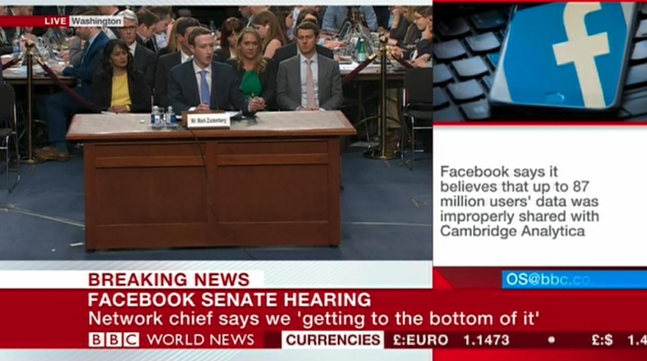 Zuckerberg vor Senat Screenshot