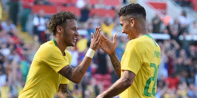 Neymar und Roberto Firmino