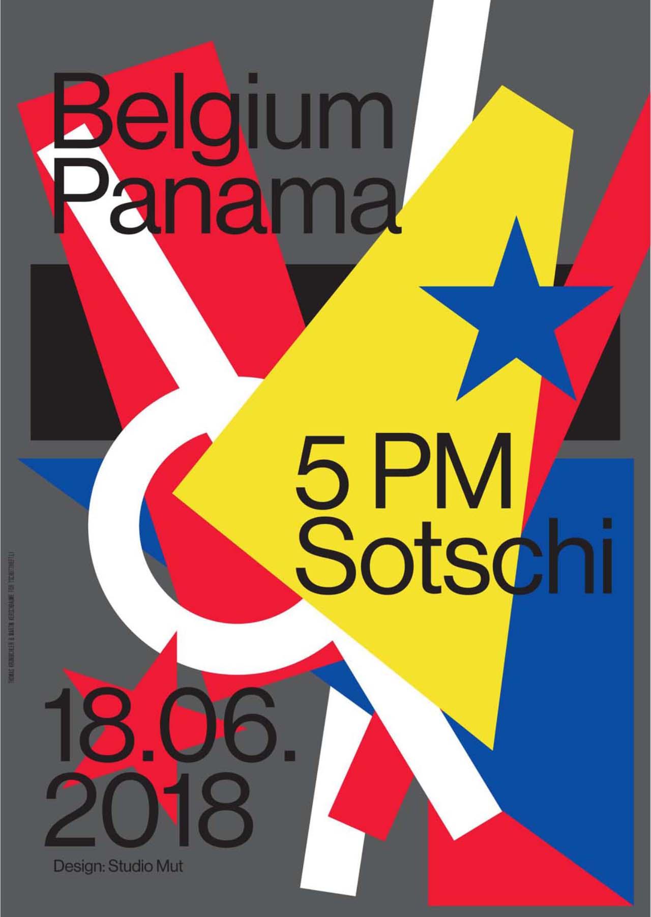 Tschutti Heftli Matchplakat Belgien Panama