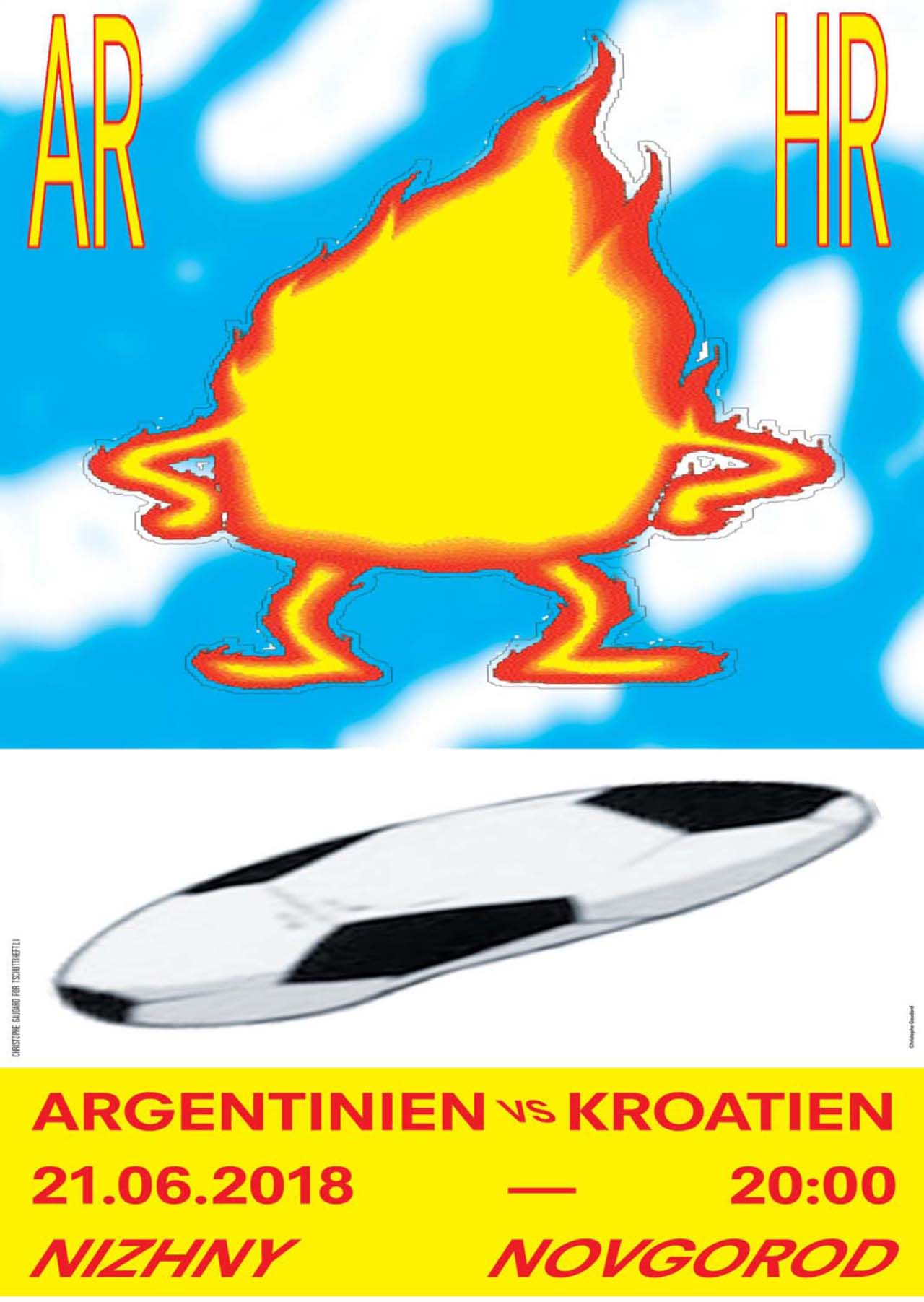 Tschutti Heftli Matchplakat Argentinien Kroatien