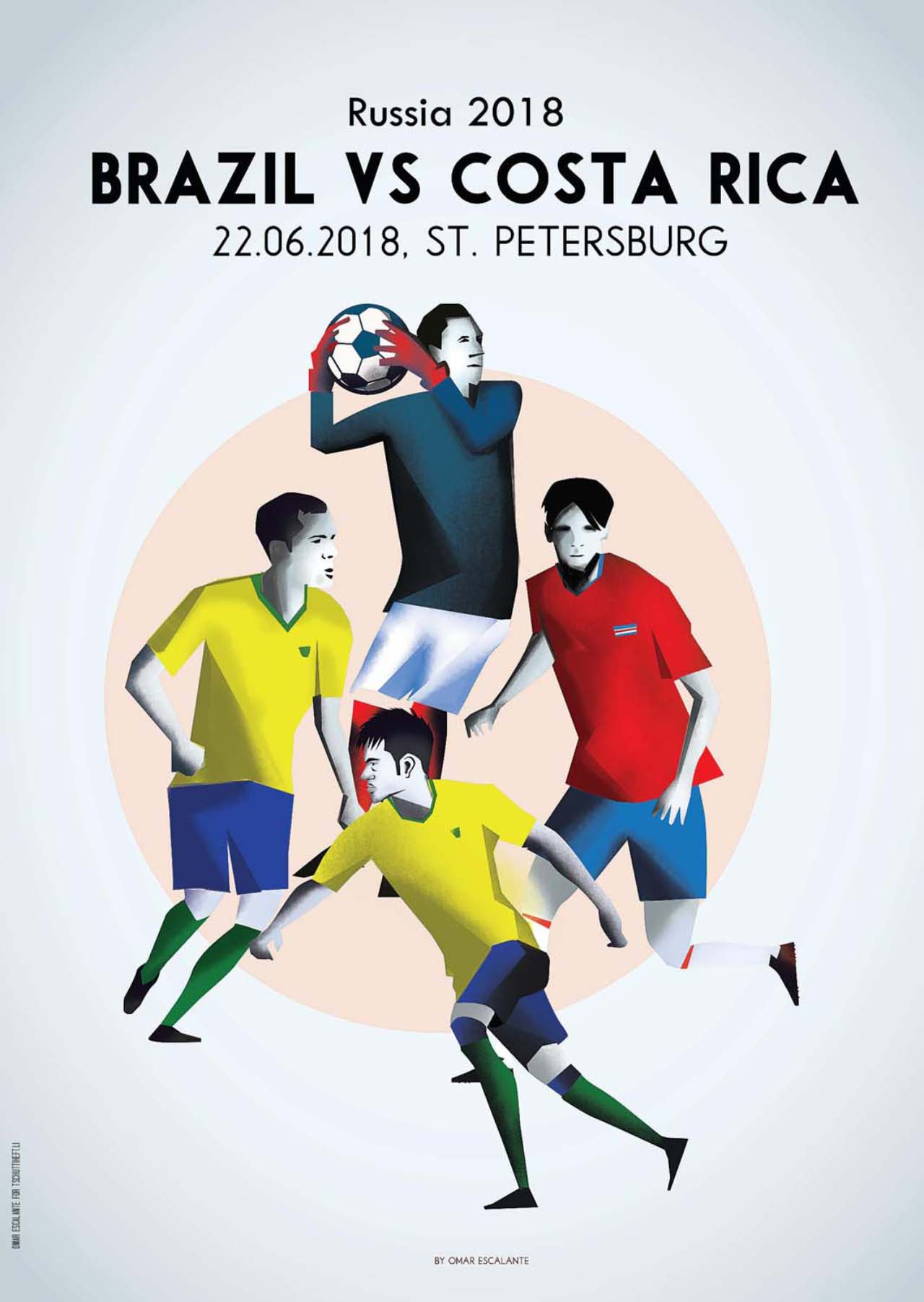 Tschutti Heftli Matchplakat Brasilien Costa Rica
