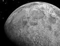 Blick aus dem All auf Erde und Mond