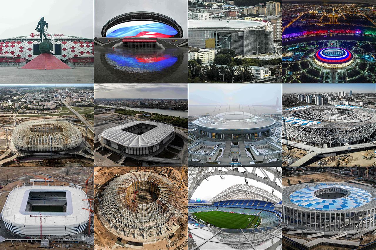 Spielorte der Fußball WM 2018 in Russland