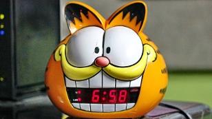 Ein Garfield-Wecker