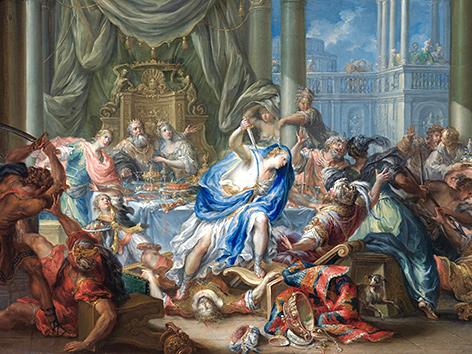 """Gemälde """"Hochzeit und Theseus und Phädra"""" von Johann Georg Platzer (1730-1740), Stift Altenburg"""