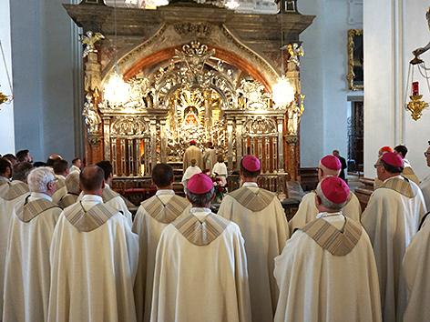 Gottesdienst zum 100-Jahr-Jubiläum des Canisiuswerkes und zum Ende der Sommervollversammlung der österreichischen Bischofskonferenz am 13. Juni 2018 in Mariazell
