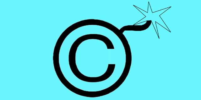 copyright-zeichen mit zündschnur