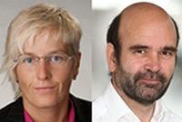 Porträtfotos von Andrea Fischer und Hans Wiesenegger