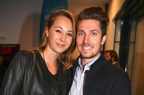 Marcel Hirscher und Laura Moisl