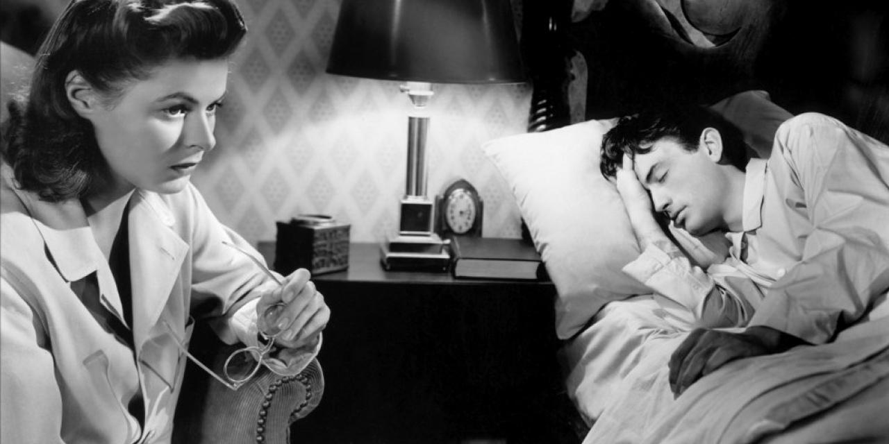 "Ingrid Bergman und Gregory Peck in ""Spellbound"""