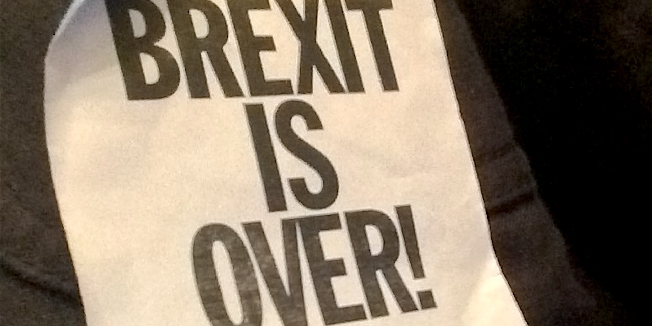 "Sticker ""Brexit Is Over - If You Want It"""