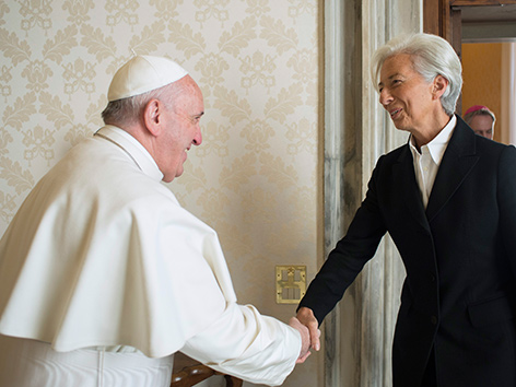 Papst wünscht sich IWF-Chefin an Vatikan-Bank-Spitze