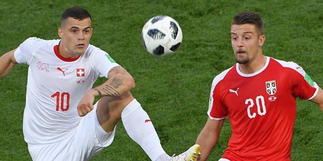 Schweiz gegen Serbien, Xhaka gegen Milinkovic Savic