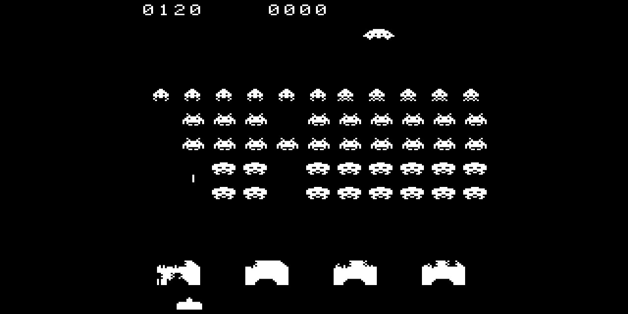 "Bildschirmfoto aus ""Space Invaders"""