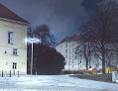 """Lichtskulptur """"OT"""", Visualisierung zerstörter Wiener Moscheen von Lukas Maria Kaufmann"""