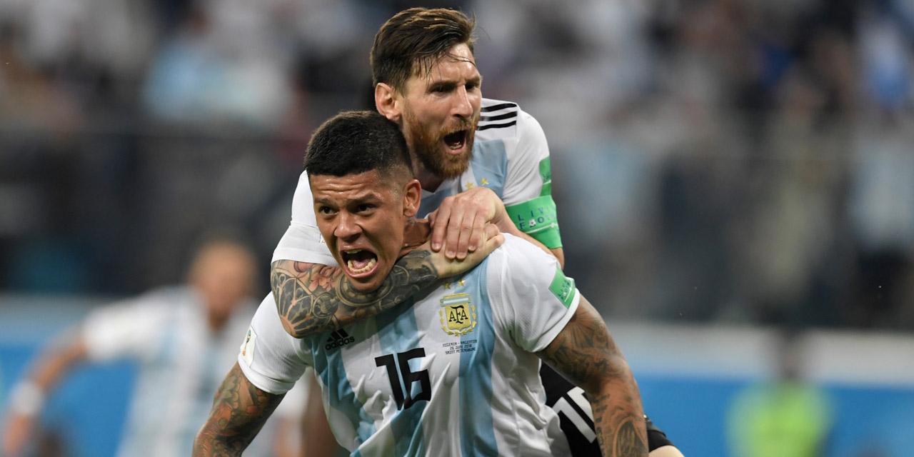 Argentinien - Messi und Rojo