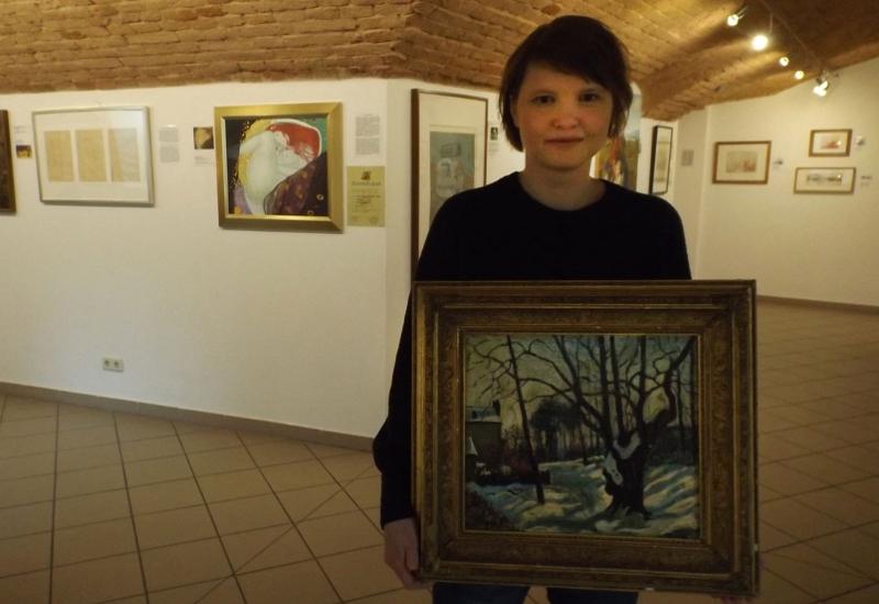 Diane Grobe im Fälscher-Museum