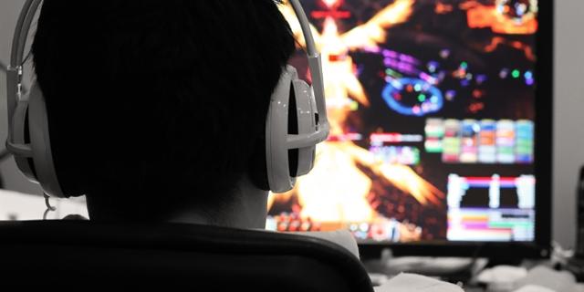 Gamer beim Gamen