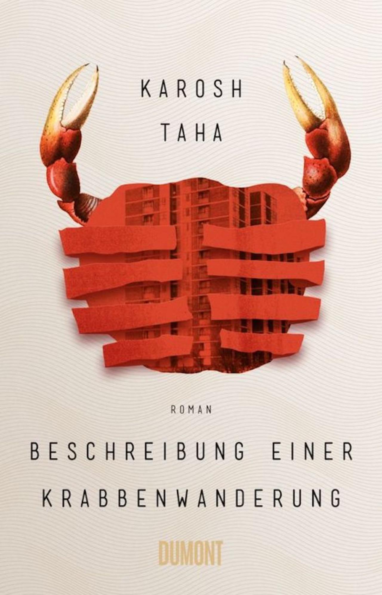 "Cover Roman ""Beschreibung einer Krabbenwanderung"""