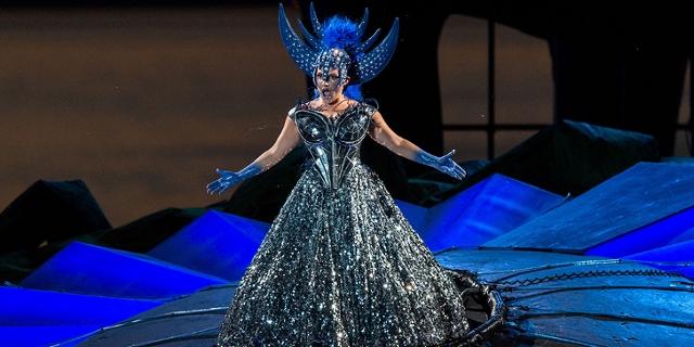 """Die """"Königin der Nacht"""" aus Mozarts """"Zauberflöte"""" bei den Bregenze Festspielen 2014"""