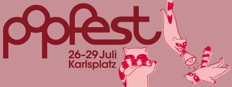 Popfest Logo und Maskottchen