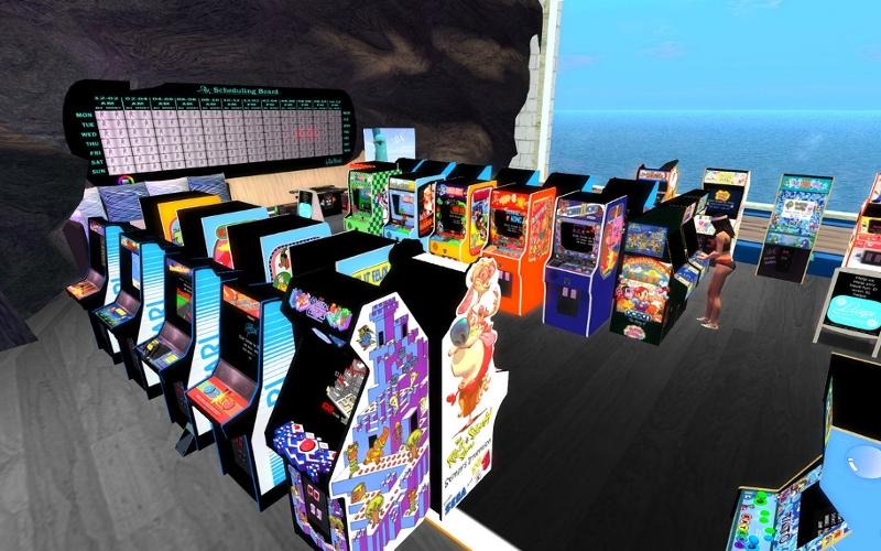 "Screenshot aus Harbor La Luna Bay City aus ""Second Life"""