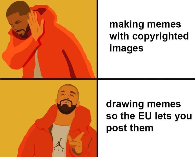 Der Vorschlag eines Reddit-Users, wie man ein Meme-Verbot umgehen könnte