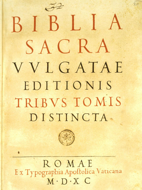 Titelblatt der lateinischen Vulgata-Bibelübersetzung