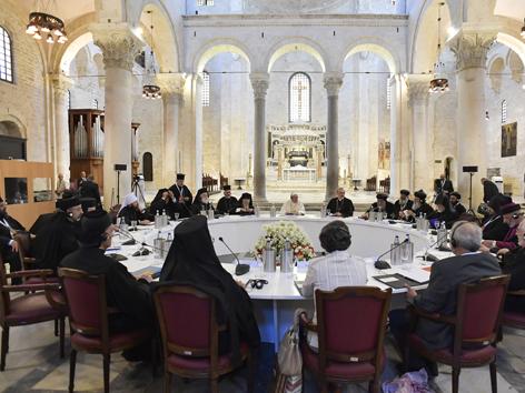 Papst Öumene Treffen Bari