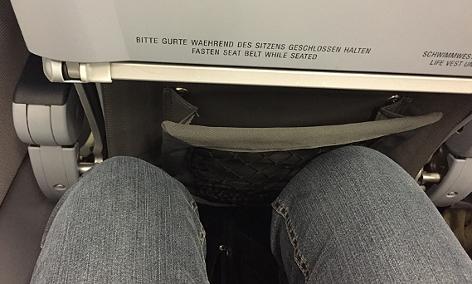 Sitzreihe im Flugzeug