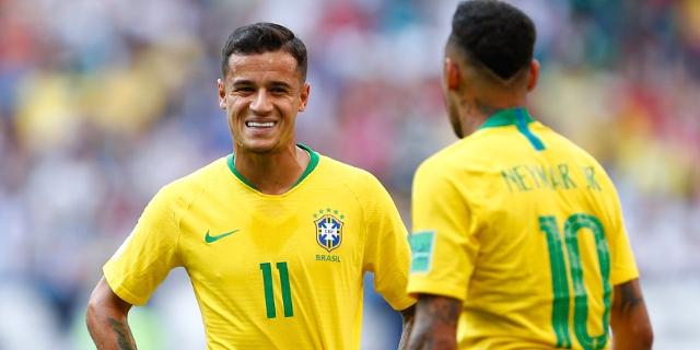 Die brasilianischen Fußballer Neymar und Coutinho