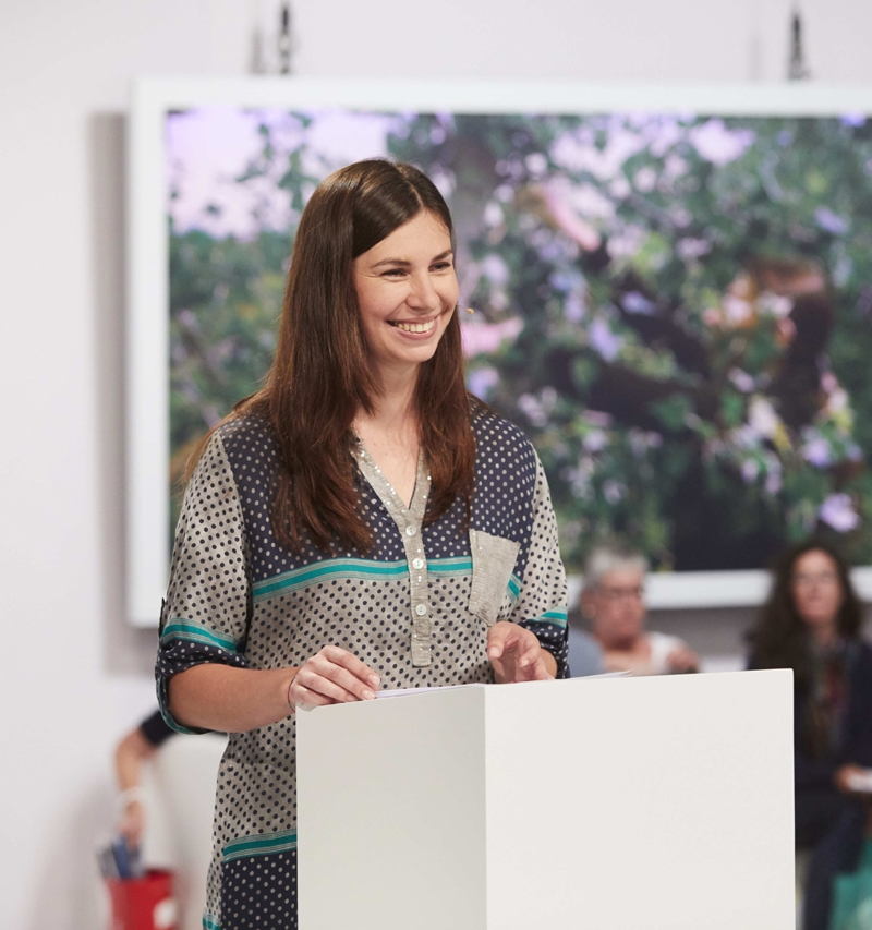 Tanja Maljartschuk bei ihrer Lesung