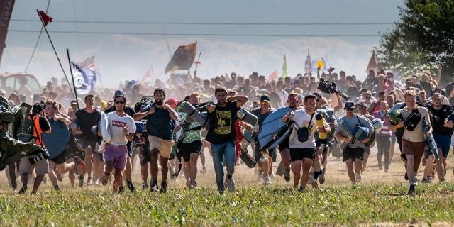 Besucher des Roskilde Festivals
