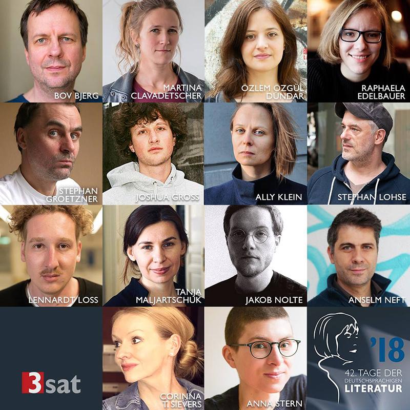 Alle AutorInnen des Bachmannpreises 2018