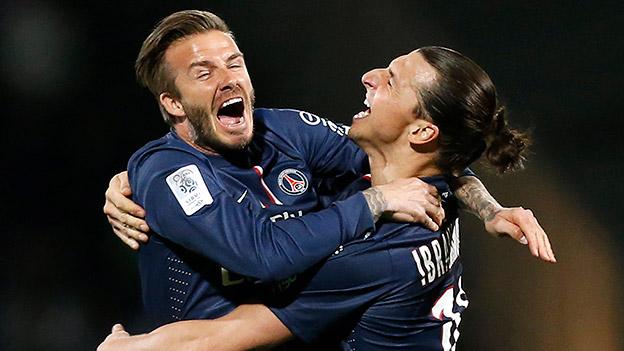 Zlatan Ibrahimovic und David Beckham