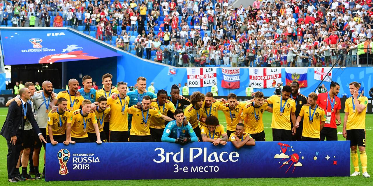 Fußball Nationalmannschaft Belgiens feiert