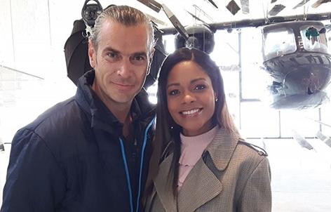 Wolfgang Böhmer und Naomie Harris