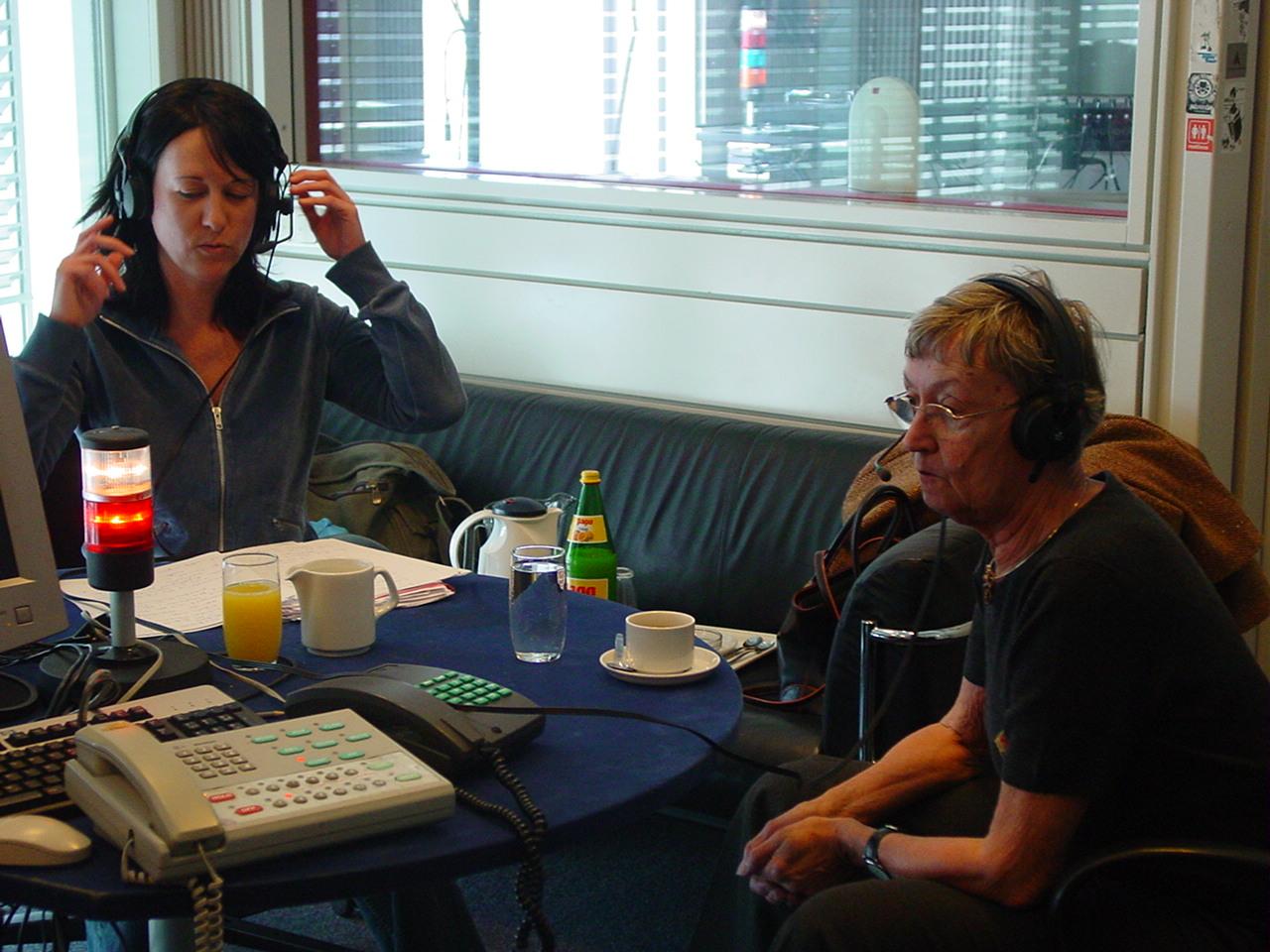 Christine Nöstlinger im Radio FM4 Doppelzimmer bei Elisabeth Scharang