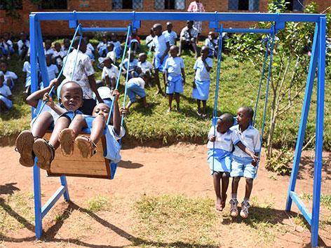 Kinder aufgenommen am 18. Juni 2018 im von der Caritas Steiermark unterstützen Waisenhaus Gitega in Burundi