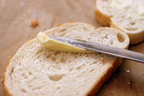 Brot mit Margarine