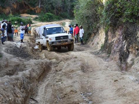 Geländewagen in Kenia