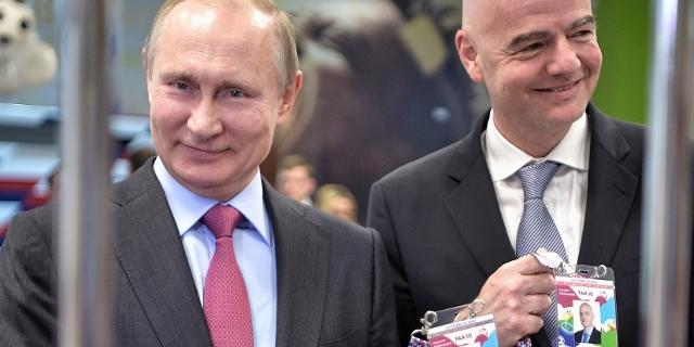 Putin und FIFA-Chef Gianni Infantino