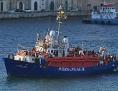 Ein Schiff mit geretteten Geflüchteten