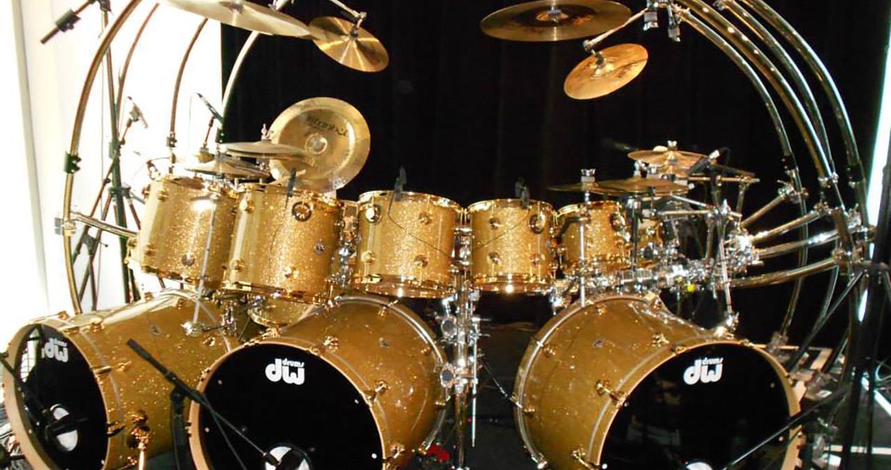 Jonathan Moffett's infamous gold drum kit